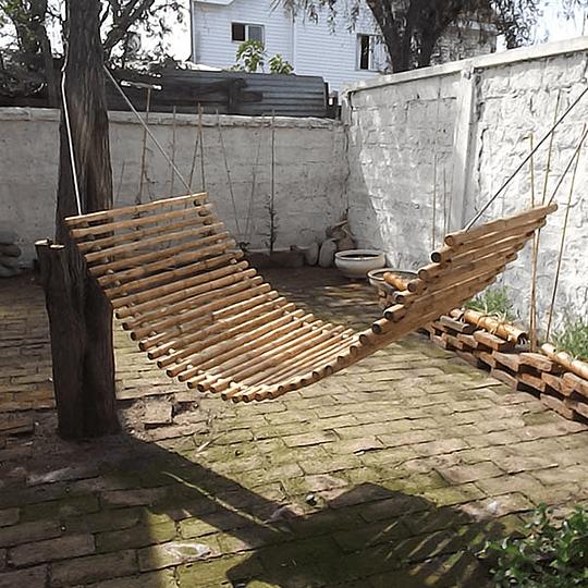 Hamaca con bambú colihue 80x200 cm - Image 1