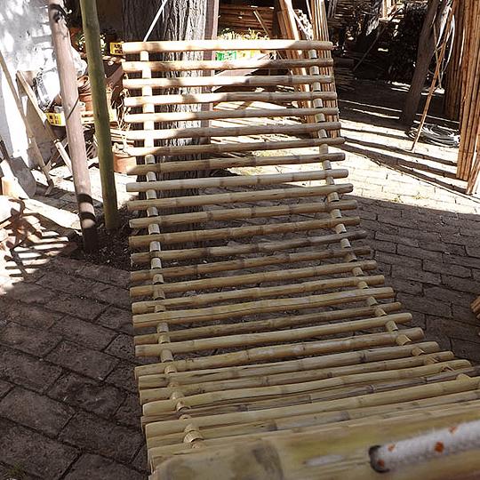 Hamaca con bambú colihue 80x200 cm - Image 2
