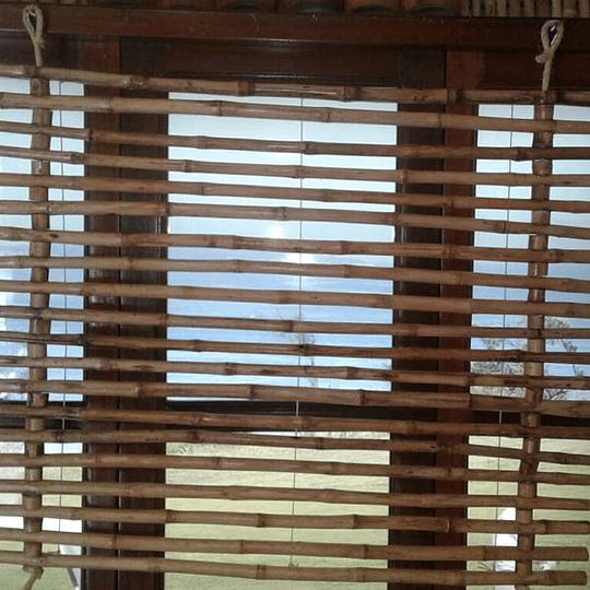 Panel Flexible de Bambú Colihue con anillos y Fijo (no retráctil) - Image 2