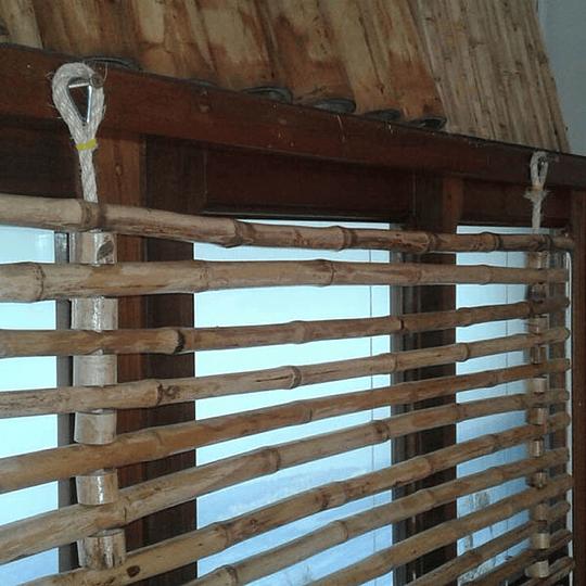 Panel Flexible de Bambú Colihue con anillos y Fijo (no retráctil) - Image 1
