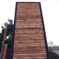 Panel colihue enmarcado con fierro