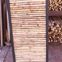 Panel colihue enmarcado en fierro