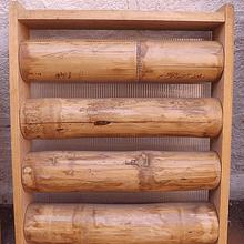 Enmarcado con madera y varas enteras de guadua     Panel rigido x m2