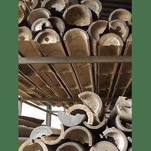 Bambú Asper Natural - Media Caña