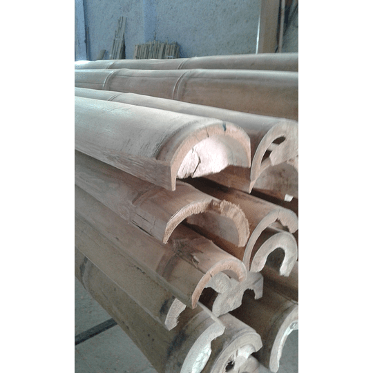 Bambú Guadua Natural - Media Caña - Image 7