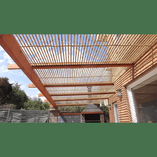 Panel Rígido con anillos Bambú Colihue (tipo rejilla) - Image 1