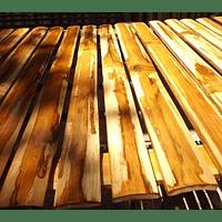 Panel rígido con tablillas de guadua