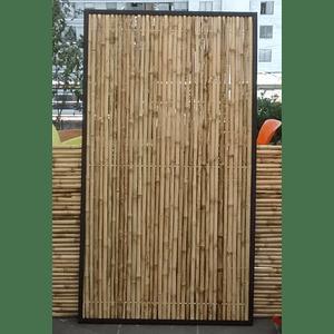 Panel Rígido de Bambú Colihue con marco de fierro