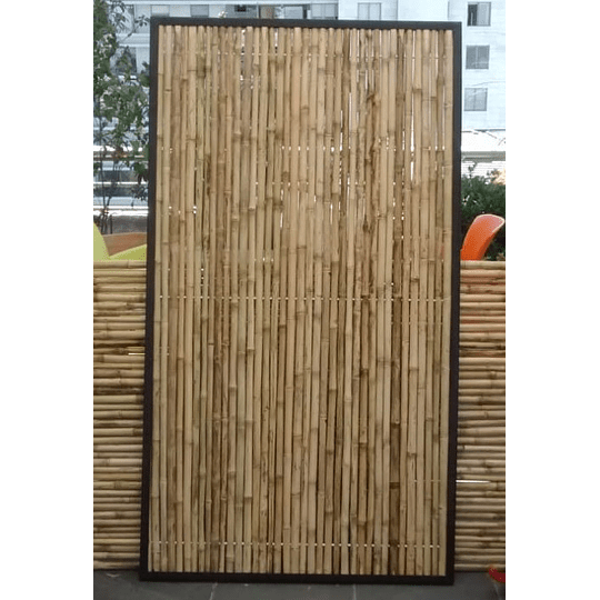 Panel Rígido de Bambú Colihue enmarcado con fierro - Image 1