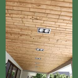 Panel Rígido con Medias Cañas de Bambú Guadua