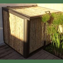 Panel rígido de bambu colihue Enmarcado con aluminio.