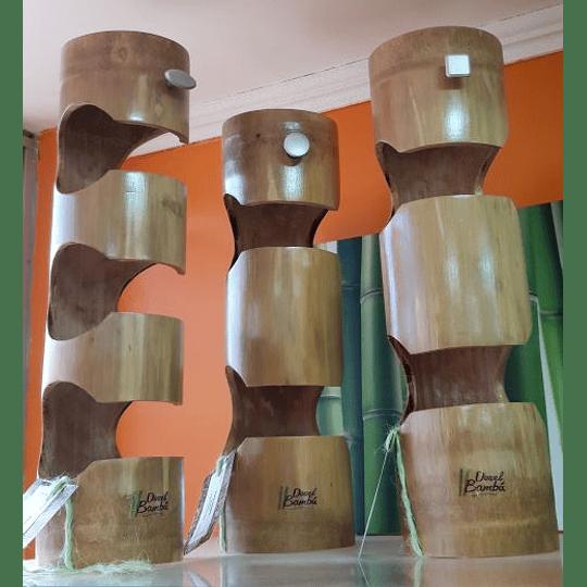 Porta Botellas de Bambú - Image 2