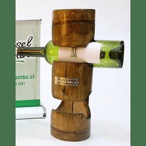 Porta Botellas de Bambú