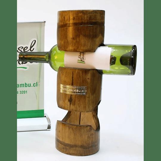 Porta Botellas de Bambú 25% de descuento - Image 1