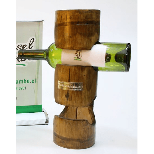 Porta Botellas de Bambú - Image 1