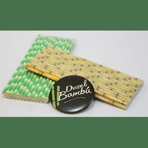 Bombillas de papel imitación bambú 25% de descuento