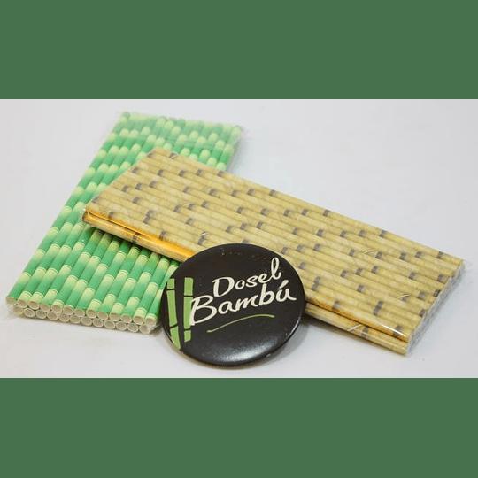 Bombillas de papel imitación bambú - Image 1