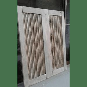 Panel de Bambú Colihue con marco de madera de pino