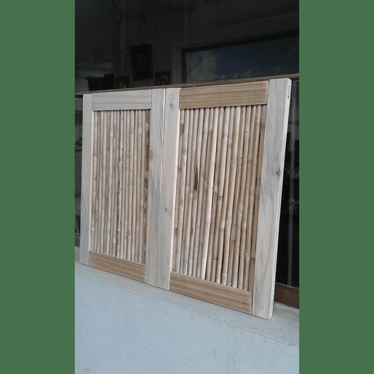 Panel de Bambú Colihue con marco de madera de pino - Image 2