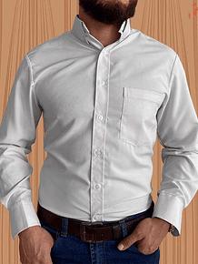 Camisa Manga Larga  Seda Blanca