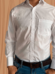 Camisa Manga Larga Dacron Blanca