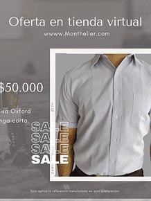 Promoción Camisa Manga Corta Oxford x 2