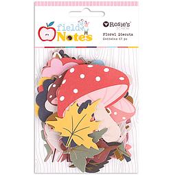 Diecuts florales de la colección Field Notes