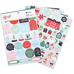Sticker embellishment Pack colección Rudolph and friends