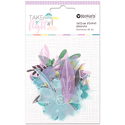 Take Flight Vellum Floral Diecuts 24pc