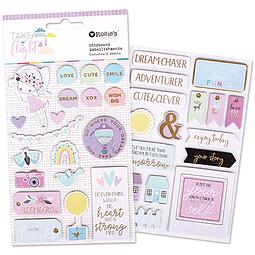 Take Flight Chipboard Embellishments 2 sheets
