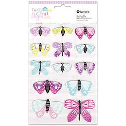 Take Flight Cardstock Butterfly Embellishments 13pc