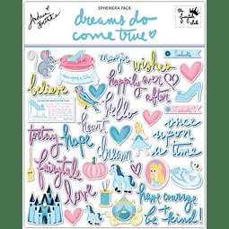 """Ephemera pack Colección """"dreams do come true"""""""