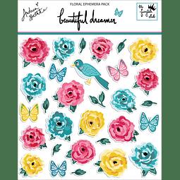 Floral ephemera pack Colección Beautiful dreamer