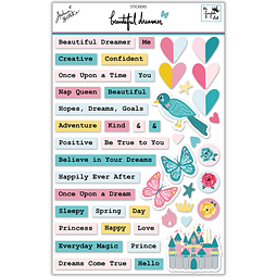 "Sticker sheet  Colección ""Beautiful dreamer"""