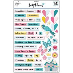 """Sticker sheet  Colección """"Beautiful dreamer"""""""