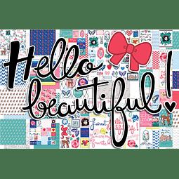 """Papeles grandes colección """"Hello Beatiful"""""""
