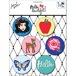 "Chapas FLAIR BUTTONS Colección ""Hello Beautiful"""