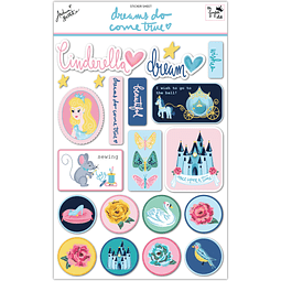 "Sticker sheet Colección ""dreams do come true"""