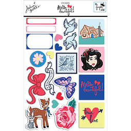 Sticker sheet Colección Hello Beautiful