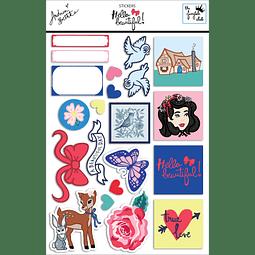 Sticker sheet Colección Hello Beautiful