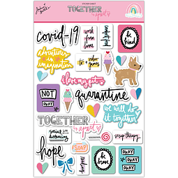 "Sticker Sheet Colección ""Together apart"""