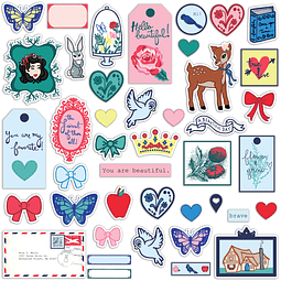 DIE-CUT SHAPES EPHEMERA PACK Colección Hello Beautiful