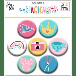 """Flair Buttons Colección """"My magical world"""""""