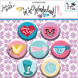 """Flair buttons Colección """"Im in wonderland"""""""