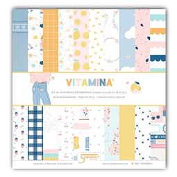 Papeles scrapboking Vitamina