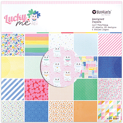 "Lucky Me 6x6"" Designer Paper Pad 40 sheet"