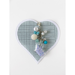 Charm Mini Corazon Azul