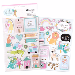Just Saying Chipboard Embellishments 2 sheets