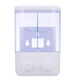 Dispensador Jabon Doble Liquido Alcohol Gel