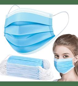 Caja 50 Mascarillas Quirúrgicas Desechables Ajustador Nariz